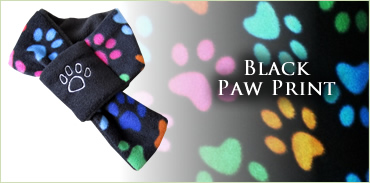 KocoKookie Dog Scarf - Multi-Coloured Paw Print