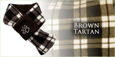 KocoKookie Dog Scarf - Brown Tartan