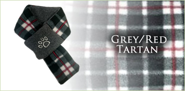 KocoKookie Dog Scarf - Grey And Red Tartan