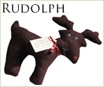 KocoKookie Dog Toys - Festive Friends - Rudolph the Reindeer