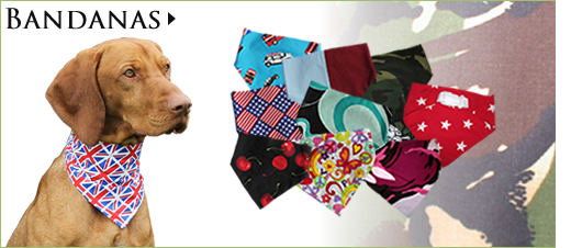 Shop for our Classic Dog Bandana Range