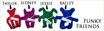View our range of Funky Friend Dog Toys in a fantastic range of designs and colours!